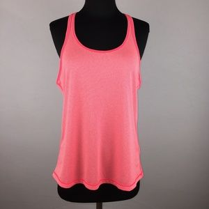 Z By Zella M Pink Coral Tank Top Striped Athletic